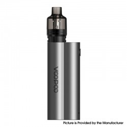 Authentic Voopoo Musket 120W Mod Kit with PnP Pod Tank Atomizer - Moon White, VW 5~120, 2 x 18650, 4.5ml, 0.15ohm / 0.2ohm
