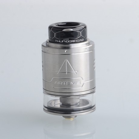 Authentic ThunderHead Creations THC Artemis V1.5 RDTA Rebuildable Dripping Tank Vape Atomizer - Silver, 2.0/4.0ml, 24mm, BF Pin
