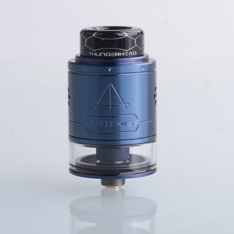 Authentic ThunderHead Creations THC Artemis V1.5 RDTA Rebuildable Dripping Tank Vape Atomizer - Blue, 2.0/4.0ml, 24mm, BF Pin