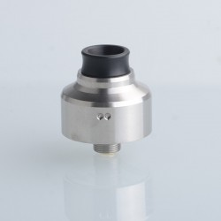 Aston Style RDA BF Squonk Rebuildable Dripping Vape Atomizer - Silver, 303 Stainless Steel, 22mm Diameter