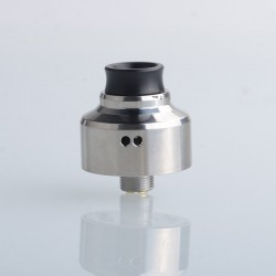 Aston Style RDA BF Squonk Rebuildable Dripping Vape Atomizer - Silver, 316 Stainless Steel, 22mm Diameter