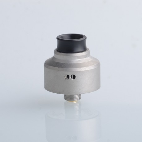Aston Style RDA BF Squonk Rebuildable Dripping Vape Atomizer - Matter Silver, 316 Stainless Steel, 22mm Diameter