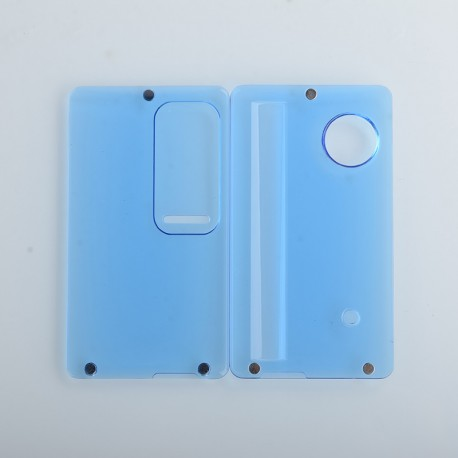 Authentic ETU Replacement Front + Back Door Panel Plates for dotMod dotAIO Vape Pod System - Blue Clear, PC (2 PCS)