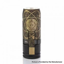 MK2 Special Style Mechanical Mod - Black Gold, Brass, 1 x 18650, Albert Limited Edition