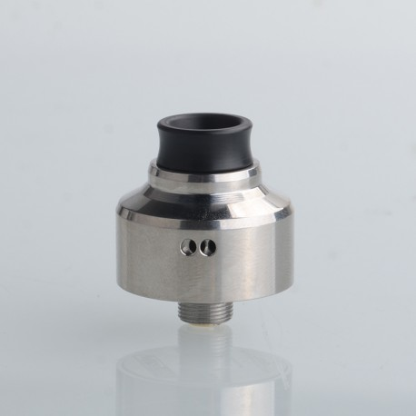 5AVape Aston Style RDA BF Squonk Rebuildable Dripping Vape Atomizer - Silver, 316 Stainless Steel, 22mm Diameter