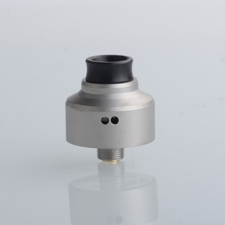 5AVape Aston Style RDA BF Squonk Rebuildable Dripping Vape Atomizer - Matte Silver, 316 Stainless Steel, 22mm Diameter