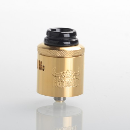 Authentic Hellvape Hellbeast RDA Rebuildable Dripping Vape Atomizer w/ BF Pin - Gold, Stainless Steel, 24mm Diameter