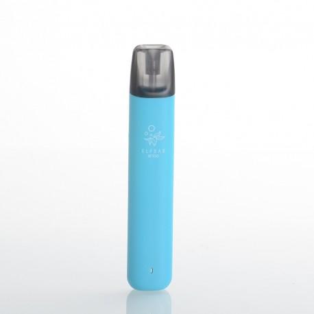 Authentic Elf Bar RF350 350mAh Pod System Vape Starter Kit - Blue, 1.6ml Refillable Pod Cartridge, 1.2ohm