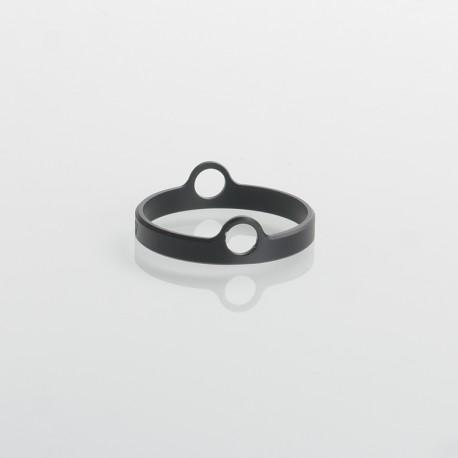 Authentic Auguse Era Pro RTA Replacement Decorative Ring - Black, Anodized Aluminum, 22mm Diameter (1 PC)