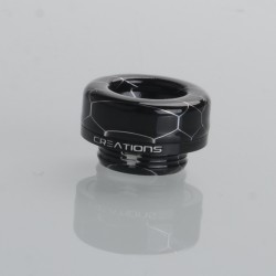 Authentic ThunderHead Creations THC Artemis V1.5 RDTA Replacement 810 Drip Tip - Black Ring (1 PC