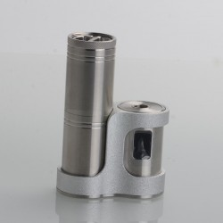 Authentic Ambition Mods Converter SBS Side-by-Side Box Mod - Silver, 1~50W, TC 200~600'F / 100~315'C, 1 x 18350 / 18650