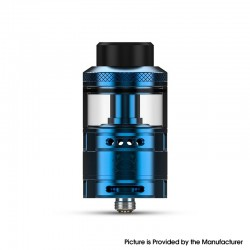 Authentic Hellvape Fat Rabbit RTA Rebuildable Tank Vape Atomizer - Blue, Stainless Steel + Glass, 5.5ml, 28.4mm Diameter