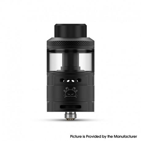 Authentic Hellvape Fat Rabbit RTA Rebuildable Tank Vape Atomizer - Matte Black, Stainless Steel + Glass, 5.5ml, 28.4mm Diameter