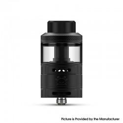 Authentic Hellvape Fat Rabbit RTA Rebuildable Tank Vape Atomizer - Matte Full Black, SS + Glass, 5.5ml, 28.4mm Diameter