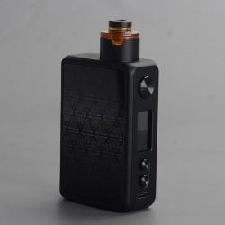 Authentic Vandy Vape PR SE Squonk Mod Kit with Requiem RDA Atomizer - Diamond Black, VW 5~95W, 1 x 16850, 20700, 21700