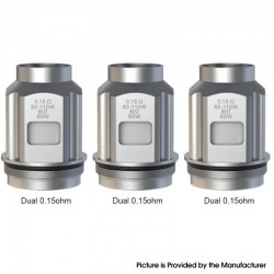 Authentic SMOKTech SMOK TFV18 Mini Tank Replacement Dual Meshed Coil - 0.15ohm (3 PCS)