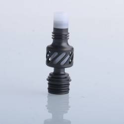 Authentic Auguse Seaman 510 Drip Tip for RDA / RTA / RDTA Vape Atomizer - Black + White, Stainless Steel + Delin
