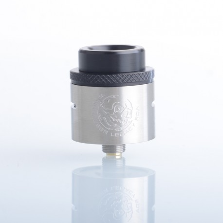 Authentic YDDZ Tannhauser Legacy RDA Rebuildable Dripping Vape Atomizer - Silver, Stainless Steel, 24mm Diameter