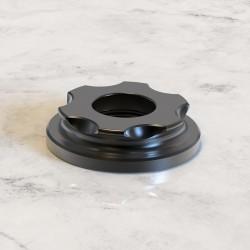 Authentic Auguse Era Pro RTA Replacement Top Cap - Black, Gear Shape