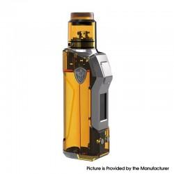 Authentic Rincoe JellyBox Mini 80W Box Mod + RDA Vape Kit - Amber Clear, 1~80W, 1 x 18650 / 20700 / 21700