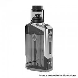Authentic Rincoe JellyBox 228W VW Vape Box Mod + RDA Kit - Black Clear, VW 1~228W, 2 x 18650