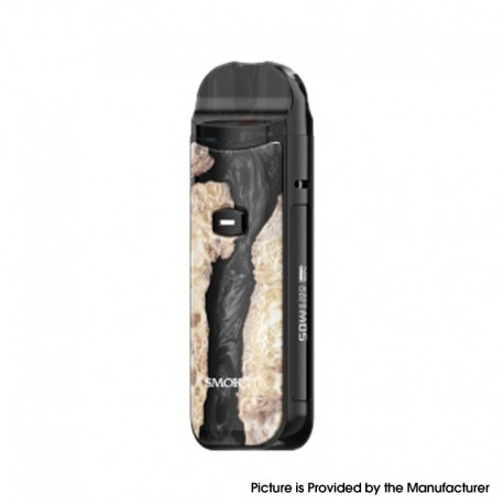 Authentic SMOK Nord 50W Pod System Kit - Regular Version-Black Stabilizing Wood, 1800mAh, 5~50W, 4.0 / 4.5ml, 0.23 / 0.6ohm