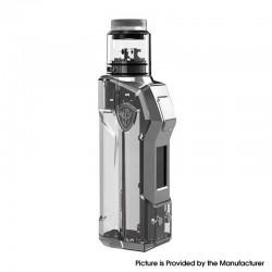 Authentic Rincoe JellyBox Mini 80W Box Mod + RDA Vape Kit - Black Clear, 1~80W, 1 x 18650 / 20700 / 21700
