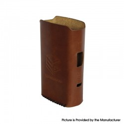 Authentic Steam Crave Hadron Pro DNA250C Box Mod Replacement Genuine Leather Case - Brown