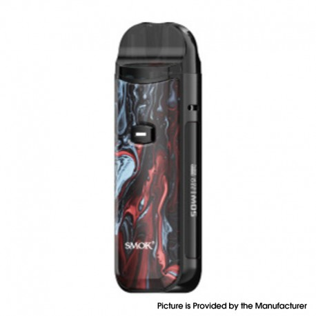 Authentic SMOKTech Nord 50W Pod System Vape Kit - Regular Version-Black Red Marbling, 1800mAh, 5~50W, 4.0 / 4.5ml, 0.23 / 0.6ohm