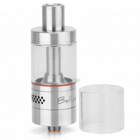 Authentic Youde UD Bellus RTA Rebuildable Tank Atomizer - Silver, Stainless Steel + Glass, 5.0mL, 22mm Diameter