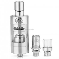 Authentic Innokin iSub Apex Top Fill Tank - Silver, Stainless Steel, 3mL, 0.5 Ohm, 22mm Diameter