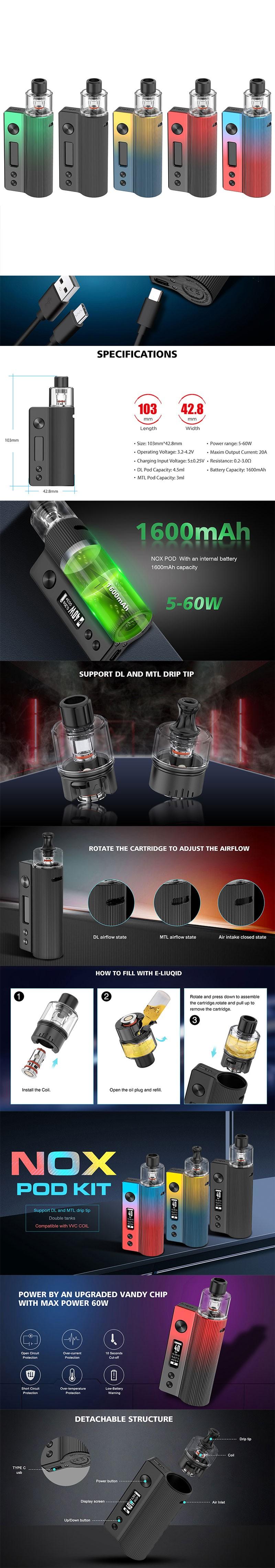 Vandy Vape Nox 60W Pod System Vape Kit