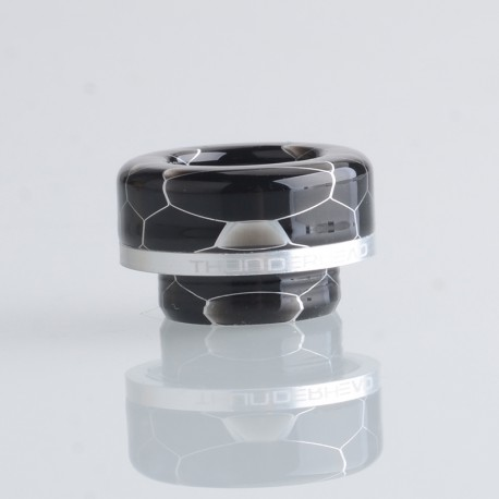 Authentic ThunderHead Creations THC Artemis V1.5 RDTA Replacement 810 Drip Tip - Silver Ring (1 PC