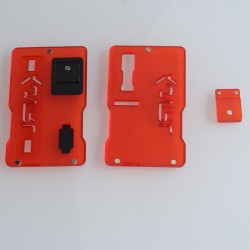 Kontrl V2 Kontrl Mag Style Front + Back Door Panel Plates w/ Button for dotMod dotAIO Vape Pod System - Red, Acrylic