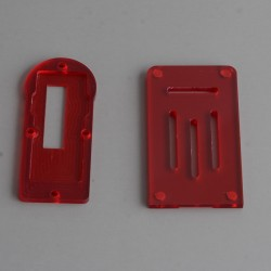 Replacement Front + Bottom Panel Plate for Aspire Boxx Mod Kit - Translucent Red, Acrylic (2 PCS)