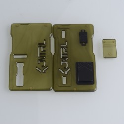 Kontrl V2 Kontrl Mag Style Front + Back Door Panel Plates w/ Button for dotMod dotAIO Vape Pod System - Army Green, Acrylic