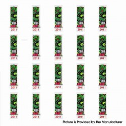 PVC Wrappers Skin Sticker for 20700 / 21700 Battery - 2011-Zombie (20 PCS)