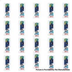 PVC Wrappers Skin Sticker for 20700 / 21700 Battery - 2012-Narwhol (20 PCS)