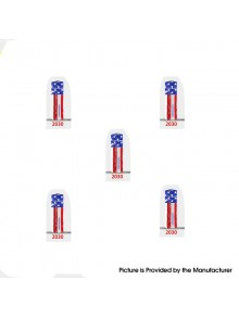 PVC Wrappers Skin Sticker for 20700 / 21700 Battery - 2030-Flag (5 PCS)