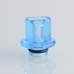 Authentic Reewape RS333 510 Drip Tip for RBA / RTA / RDA Atomizer - Translucent Blue, Acrylic (1 PC)