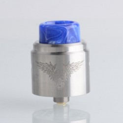 Authentic Mechlyfe x Fallout Vape Screamer RDA Rebuildable Dripping Vape Atomizer - Silver, 24mm, BF Pin