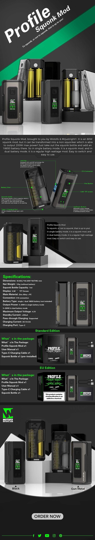 Wotofo Profile Squonk Vape Box Mod