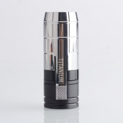 MK2 Special Cipher Style Mechanical Mod - Silver, Chroming Brass + Delrin, 1 x 18650