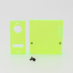 SXK Delro Style AIO Mod Kit Replacement Door Cover Panel Plate - Translucent Green (2 PCS)