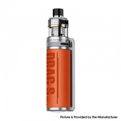 Authentic Voopoo Drag S Pro Pod Mod Kit - Califomia Orange, 3000mAh, VW 5~80W, 5.5ml TPP X Pod Cartridge, 0.15ohm / 0.3ohm