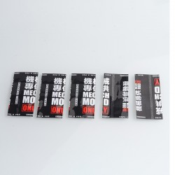 PVC Wrappers Skin Sticker for 20700 / 21700 Battery - 2033-MMO (5 PCS)