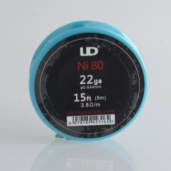 Authentic YouDe UD Nichrome Wire for RBA Vape Atomizer - 0.65mm / 22AWG, 15ft (5m)