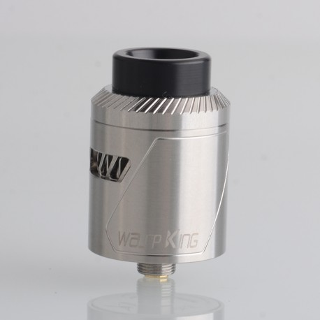 Authentic Oumier Wasp King RDA Rebuildable Dripping Vape Atomizer - Silver, 24mm, with BF Pin