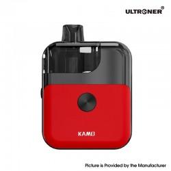 Authentic Ultroner Kamo Pod System Vape Starter Kit - Red, 1400mAh, 4.0ml, 0.6ohm / 1.0ohm