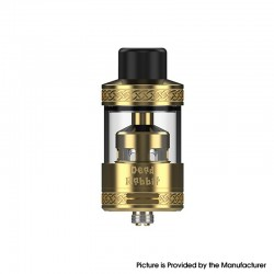 Authentic Hellvape Dead Rabbit R Tank Vape Atomizer - Gold, 5ml / 6.5ml, 25.5mm Diameter